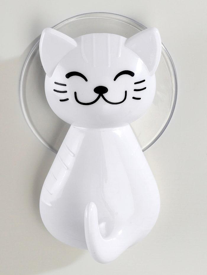 """Imukuppikiinnitteinen koukku """"kissa"""", 2/p."""