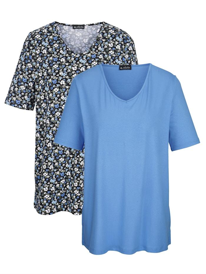 Doppelpack Shirts bestehend aus einem bedrucktem Shirt und einem einfarbigem Shirt