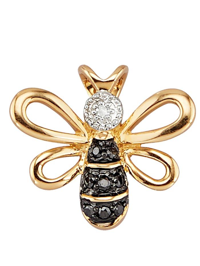 Amara Diamants Pendentif 'Abeille', Multicolore