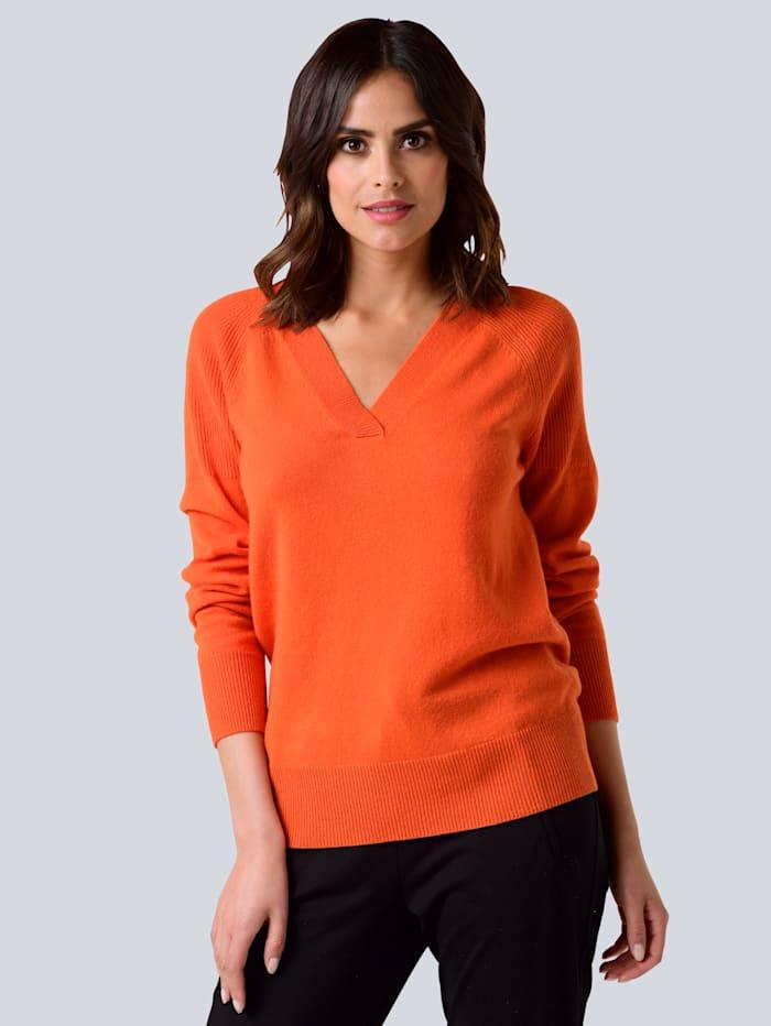 Alba Moda Pullover aus hochwertiger reiner Kaschmirqualität, Orange