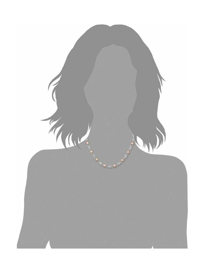 Collier für Damen, Edelstahl IP rose