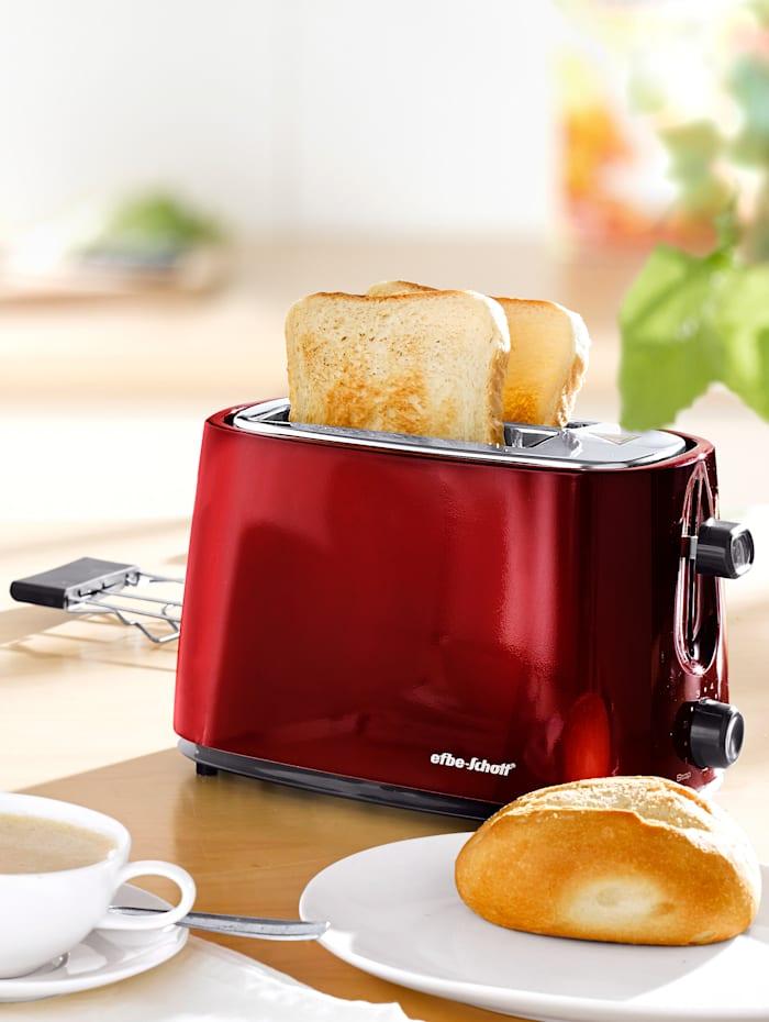 Toaster design moderne rouge métallisé