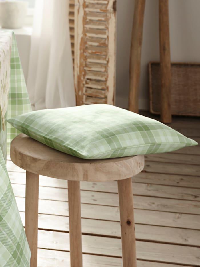 Hossner Putetrekk -Olivia-, ecru/grønn