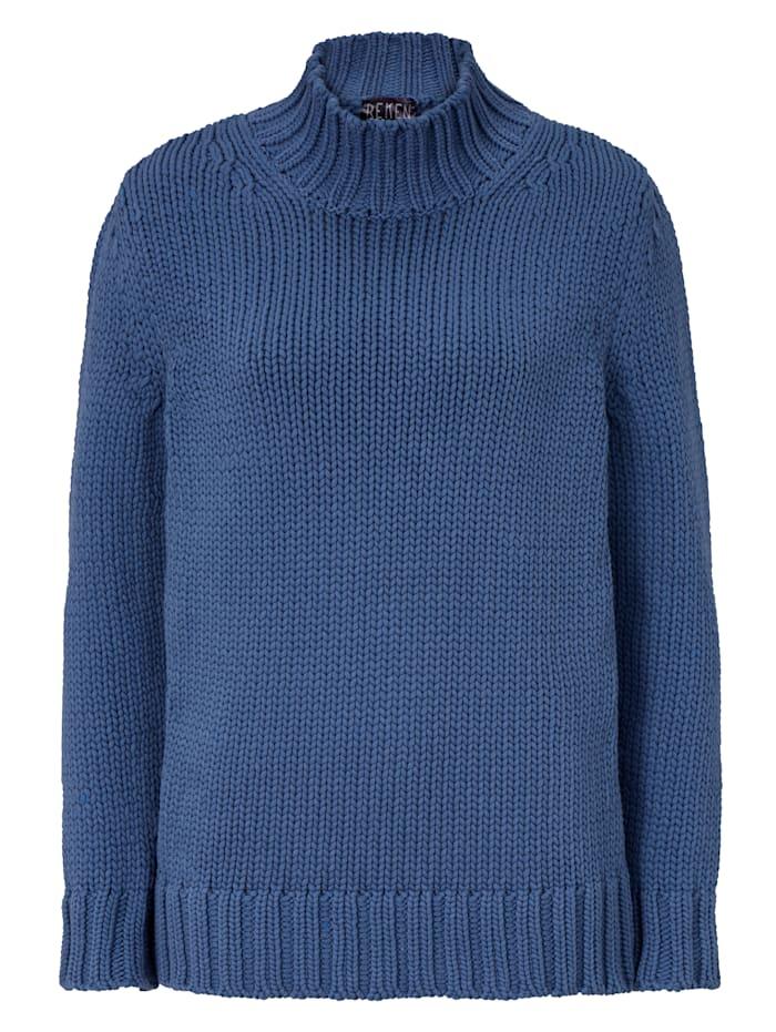REKEN MAAR Pullover mit Stehkragen, Blau