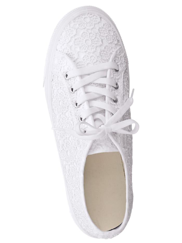 Športová obuv so vsadenou kvetinovou čipkou