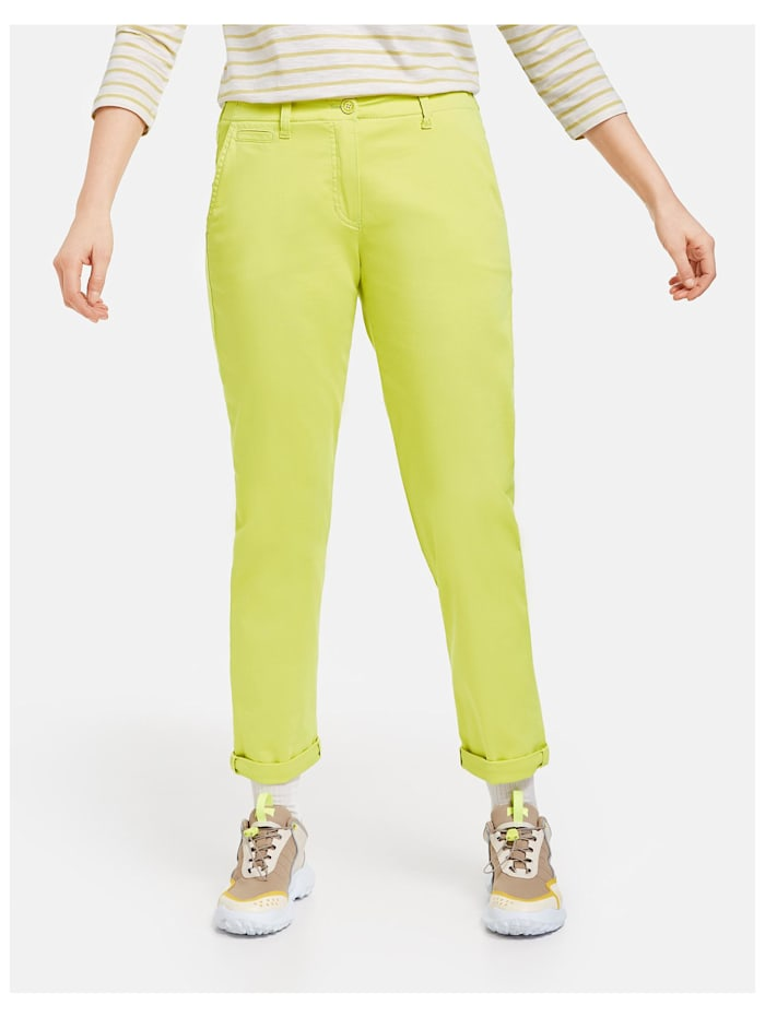 Gerry Weber Stretchige Chino Organic Cotton, Lime
