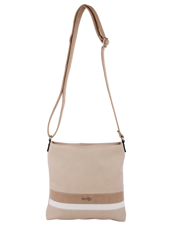 Taschenherz Shopper in harmonischer Farbgebung, ecru/taupe