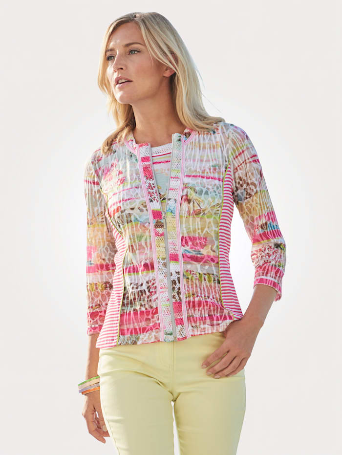 Just White Shirtjacke, Pink/Gelb