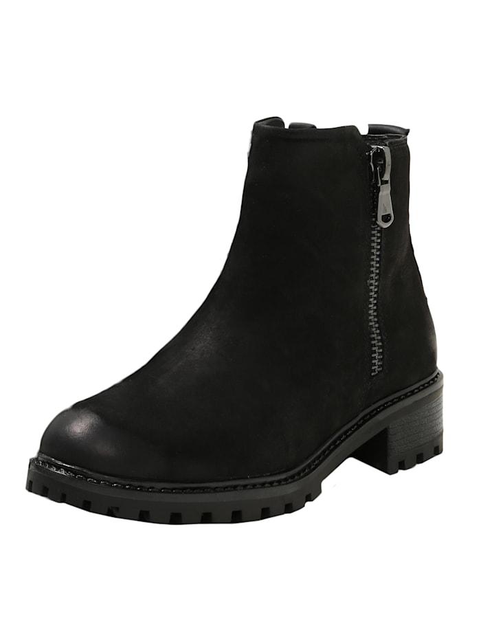 COX Trend-Stiefelette Schnür-Boots, schwarz
