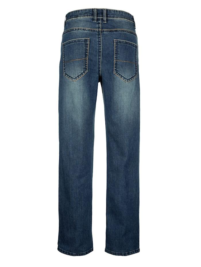Jean 5 poches à surpiqûres contrastantes