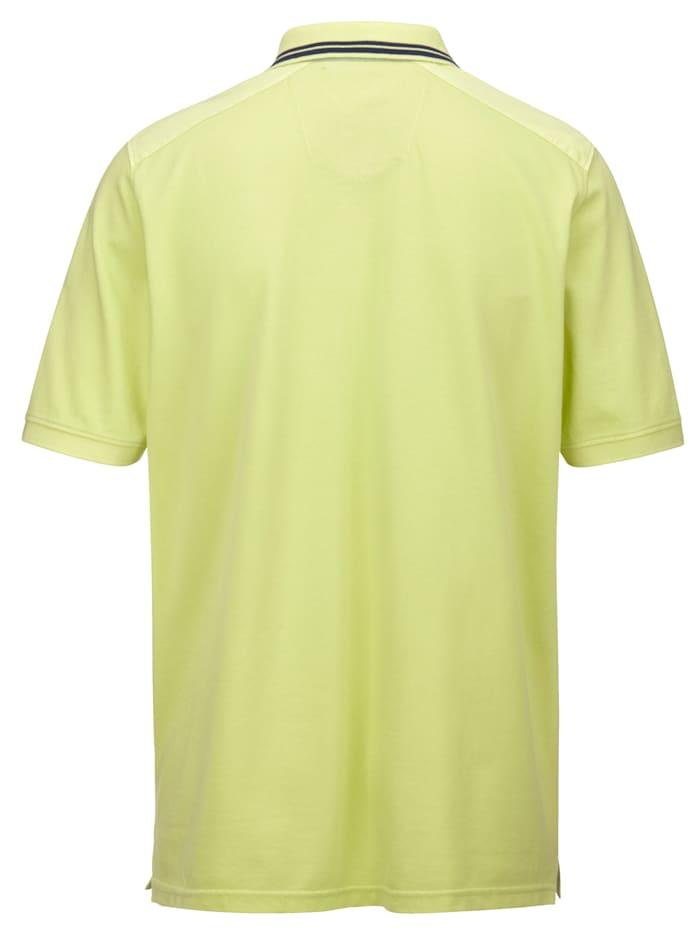 Poloskjorte i garment dyed-materiale