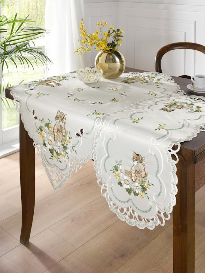 Webschatz Linge de table 'Mimi', Crème/multicolore