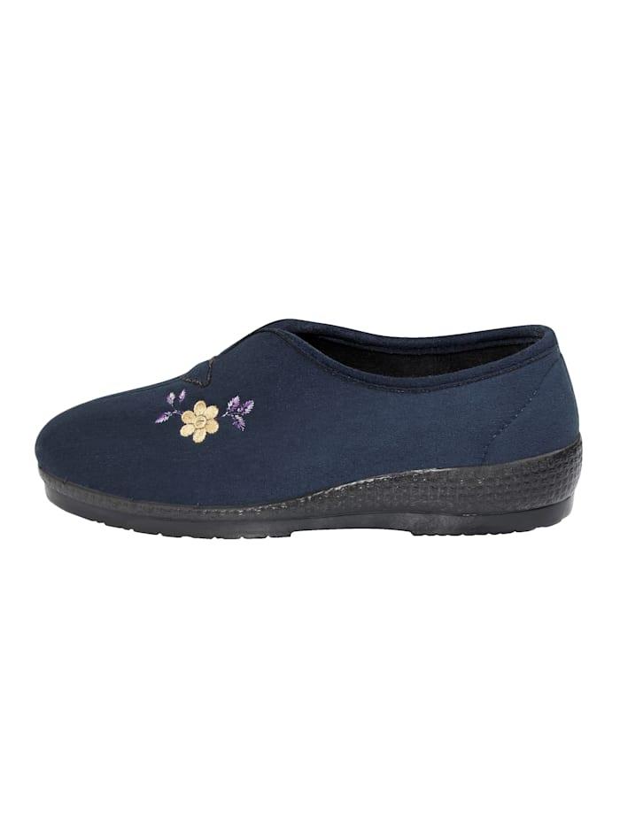Pantoffel met bloemenapplicatie
