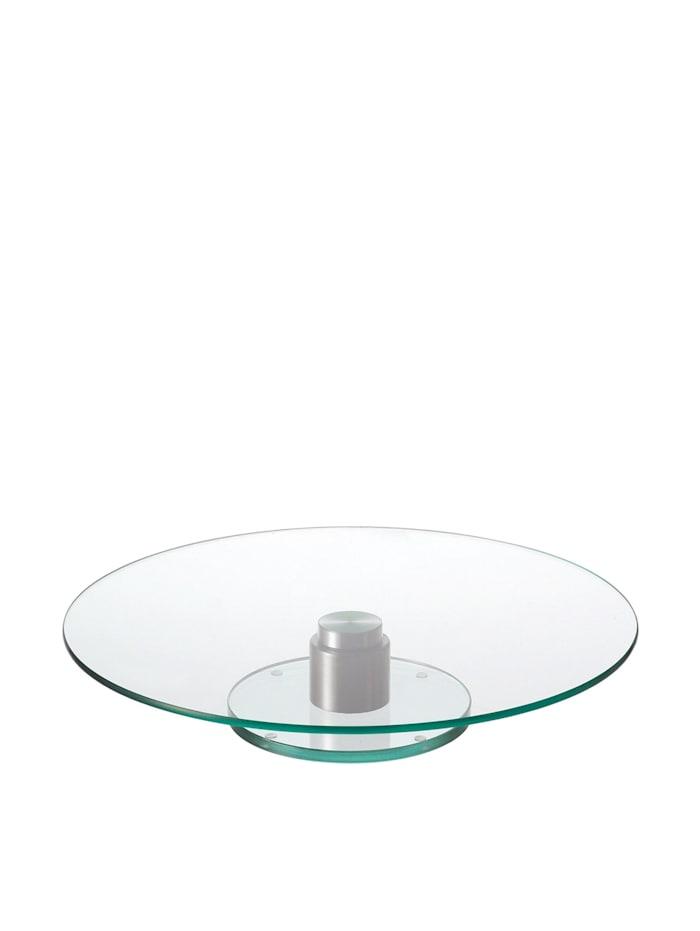 Leonardo Tortenplatte Turn, Transparent, Silber
