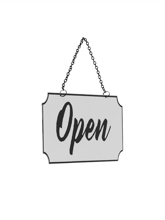 """Wende-Metallschild """"Open/Close"""""""