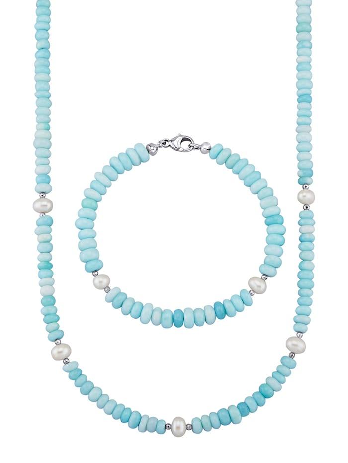 Opaalikorusetti, 2-os., Sininen
