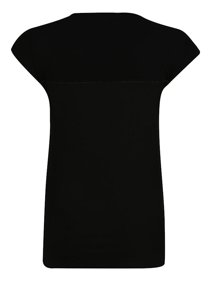 T-Shirt mit Allover-Print Applikationen