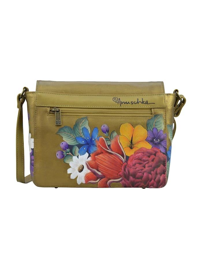 Umhängetasche Dreamy Floral (handbemaltes Leder)
