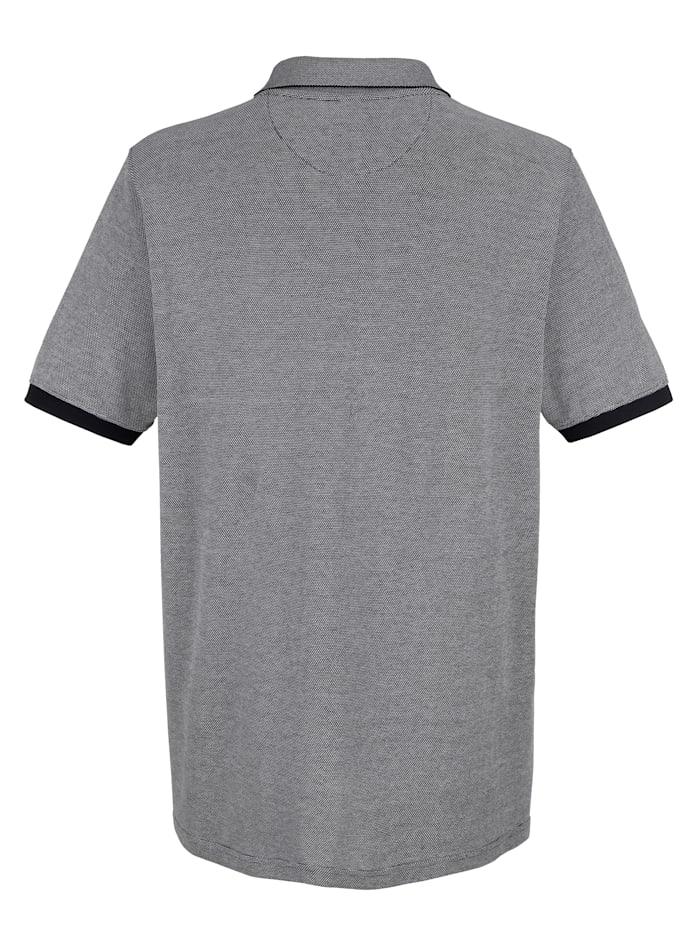 Poloshirt mit Streifenmuster im Vorderteil