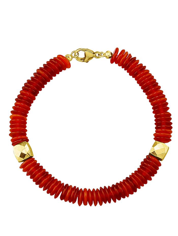 Armband van carneolen, Oranje
