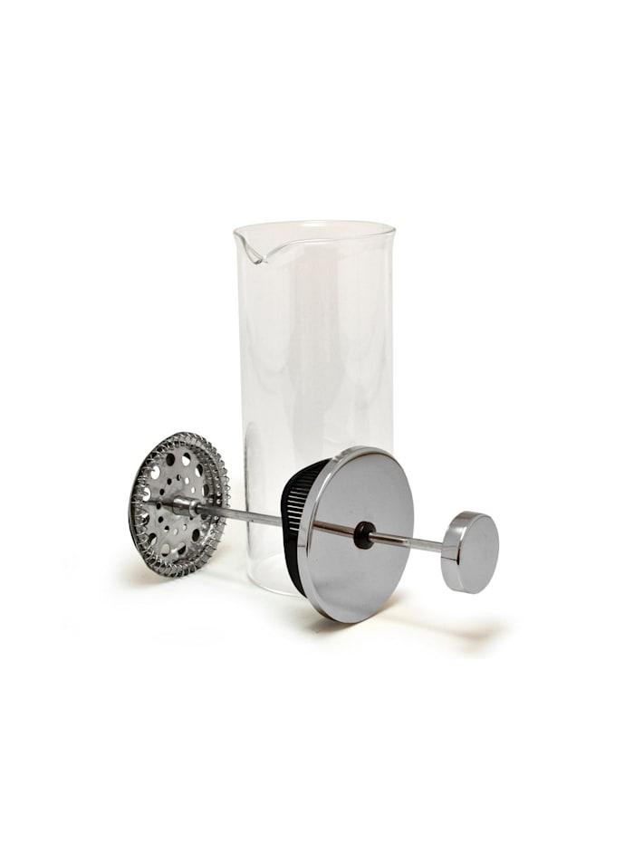 Neuetischkultur Milchaufschäumer Glas, Silber