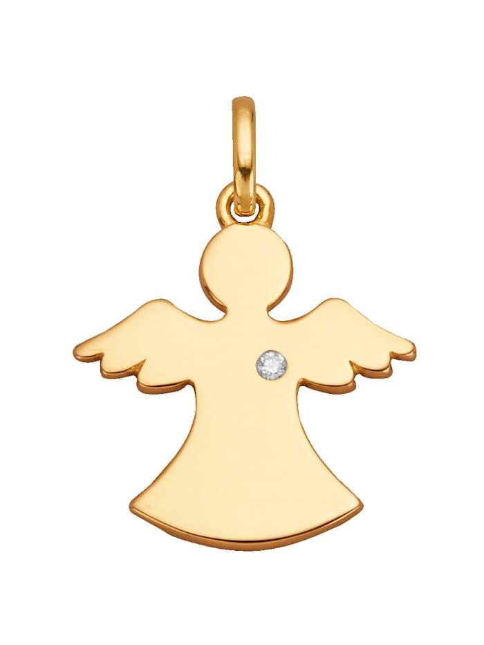 Pendentif 'Ange gardien' avec diamant, Coloris or jaune