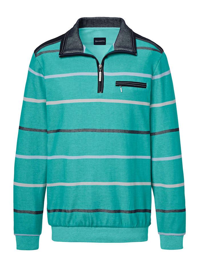 Sweat-shirt à motif rayé bicolore