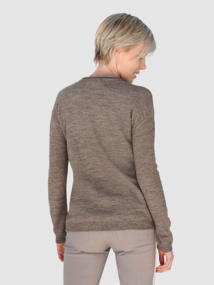 Pullover mit roségoldenem Folienprint