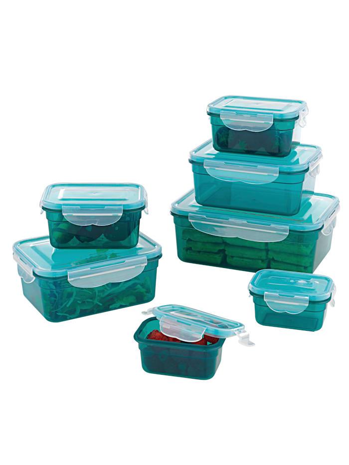 maxxcuisine Sett med oppbevaringsbokser, smaragd