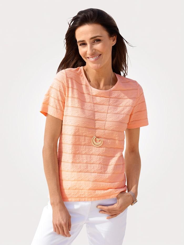 MONA Shirt mit Struktur, Apricot