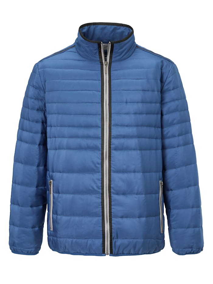 BABISTA Doorgestikte jas van zomers materiaal, Blauw
