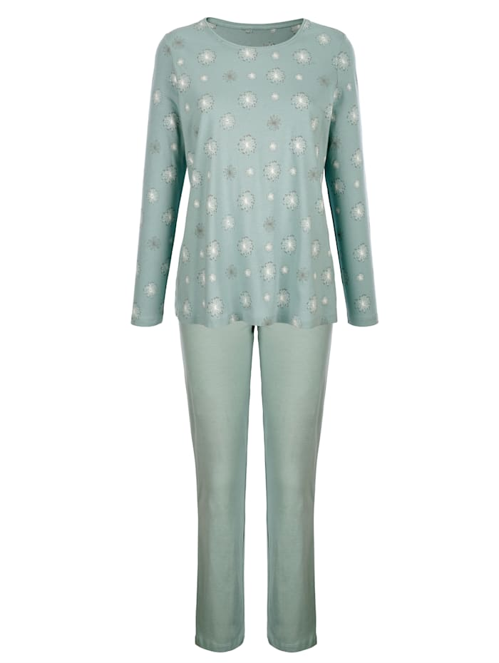 Pyjamas med småmönstrad överdel