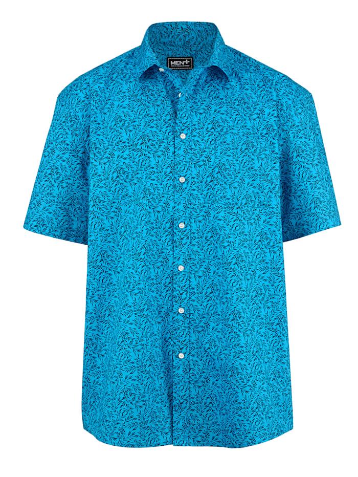 Men Plus Košeľa špeciálny strih, Tyrkysová/Námornícka