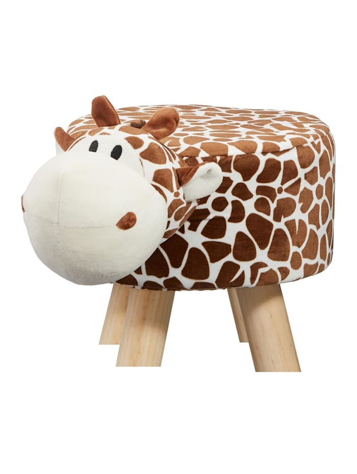 HTI-Living Hocker Giraffe, Braun