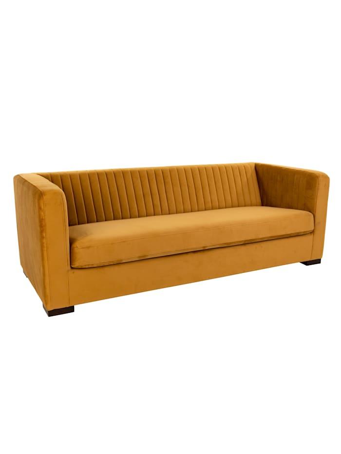 BePureHome Sofa, Samt, Senfgelb