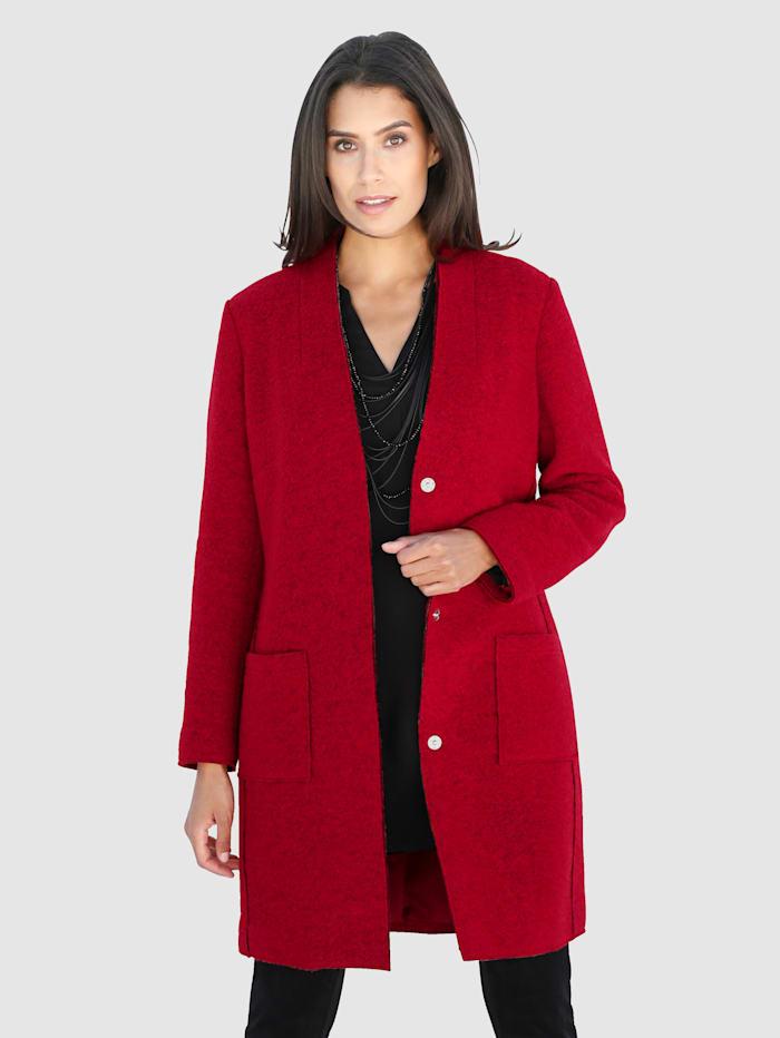 Laura Kent Kåpe med ren ny ull, Rød