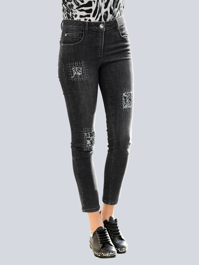 Alba Moda Jeans mit dekorativen Elementen, Grey