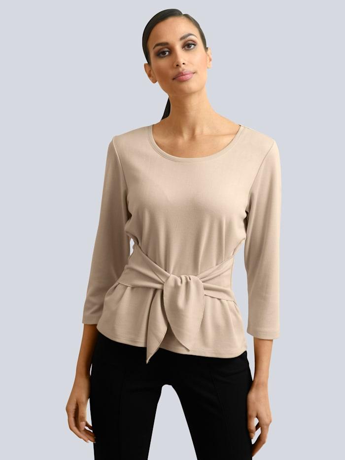 Alba Moda Shirt mit Zier-Bindeband, Beige