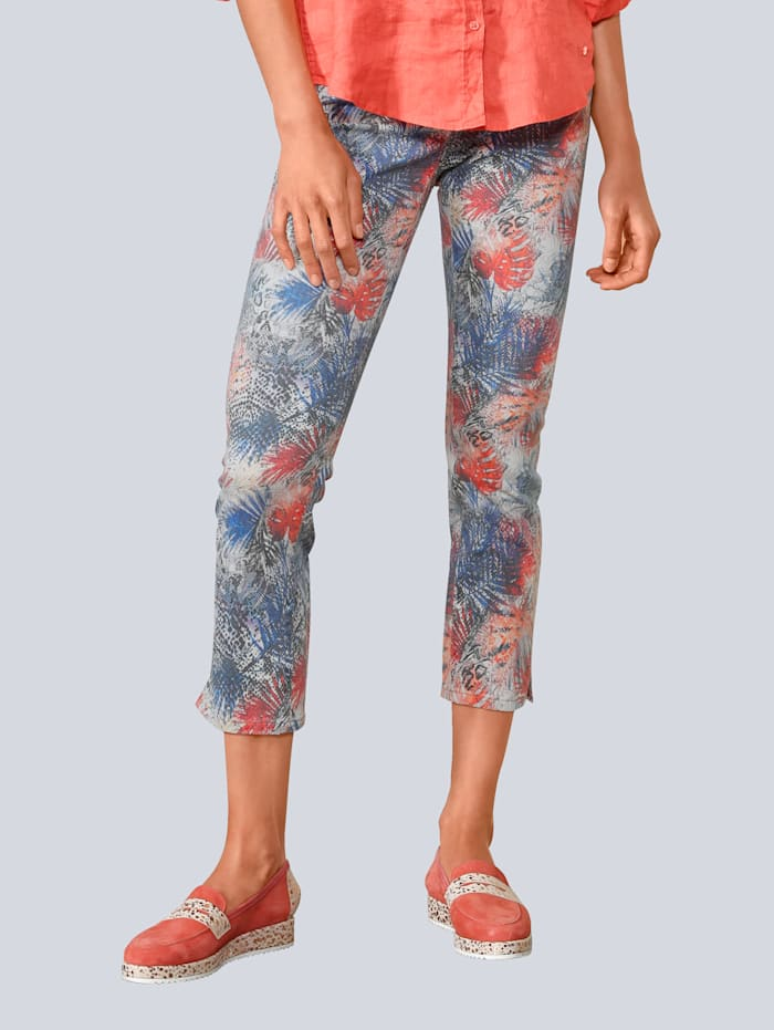 BRAX Jeans 'Mary S' im Palmendruck, Blau