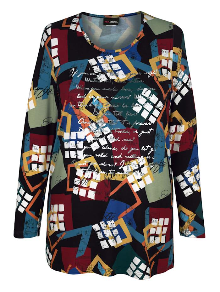 Shirt met glanzende opschriften voor