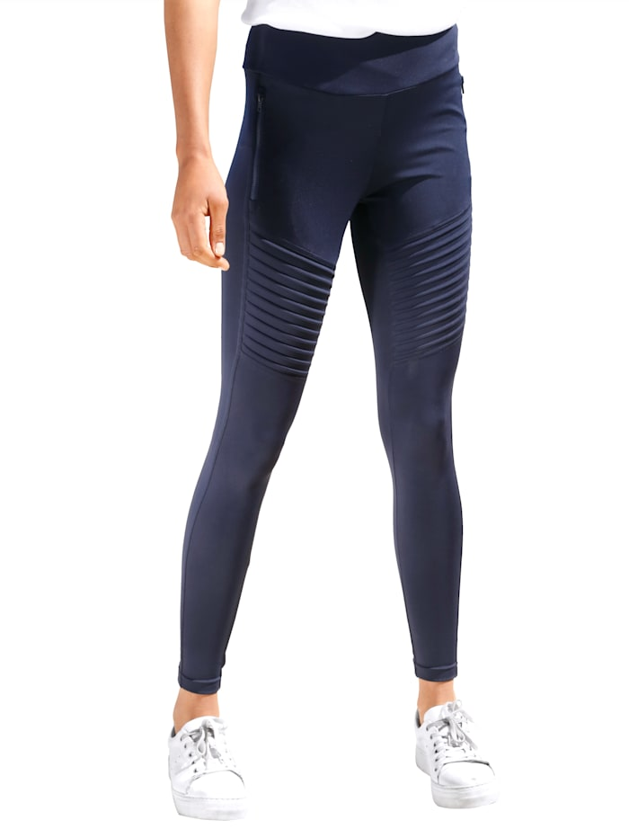 Dress In Leggings mit Bikerdetail, Marineblau