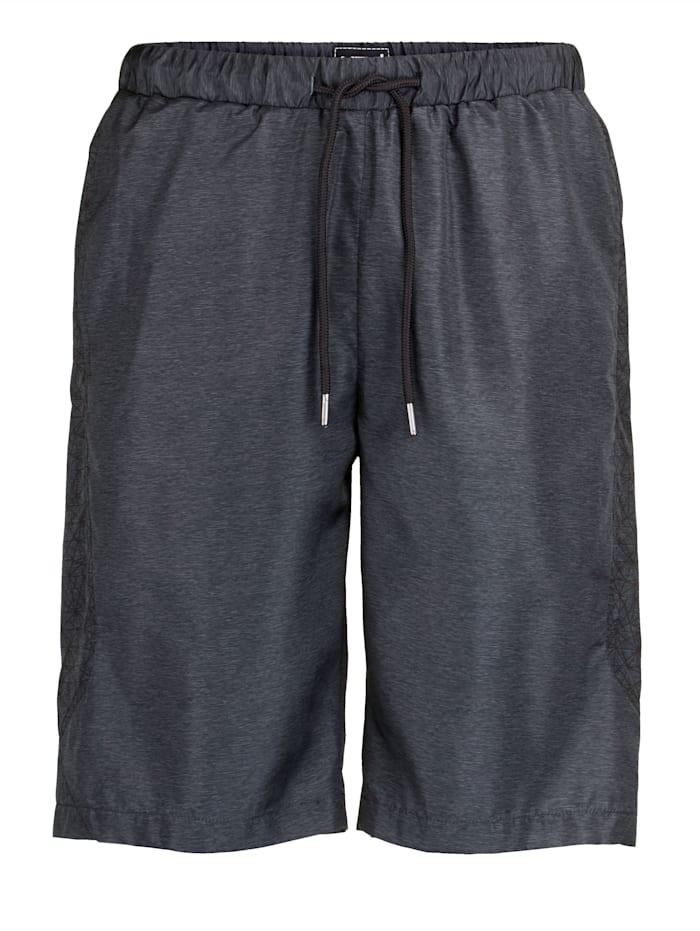 Men Plus Shorts i spesialsnitt, Grå/Svart