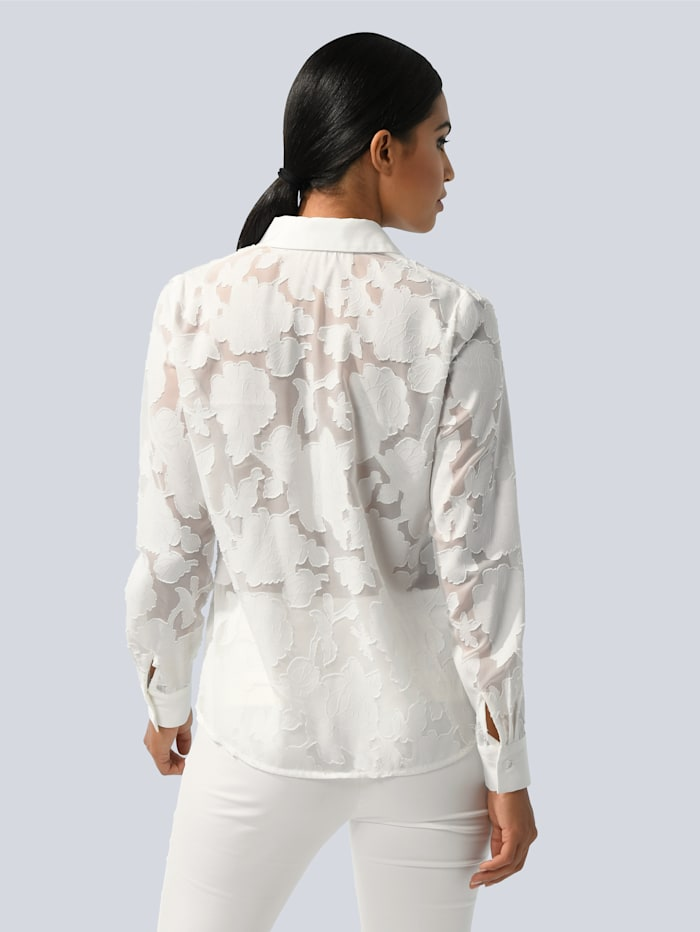 Blouse in modieuze ausbrennerlook
