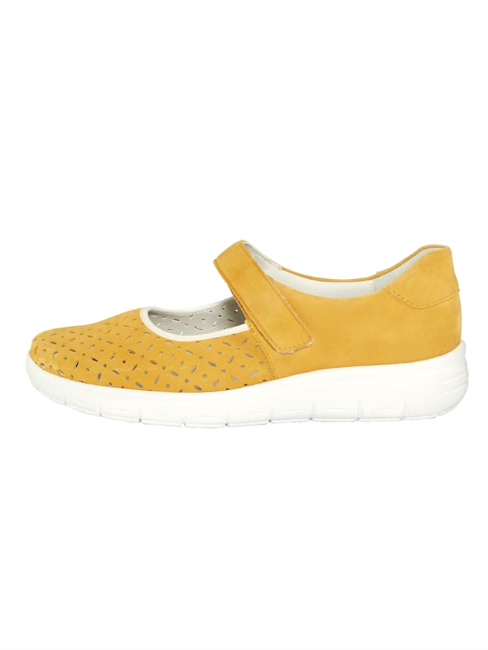 Velcro shoes with shock absorbing sole