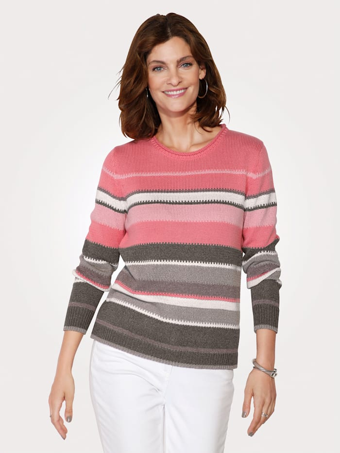 Rabe Pullover, Rosé/Taupe