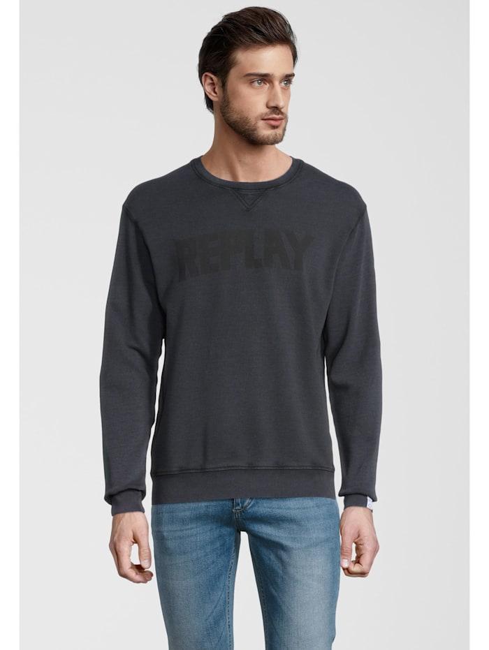 Sweatshirt mit Label-Print