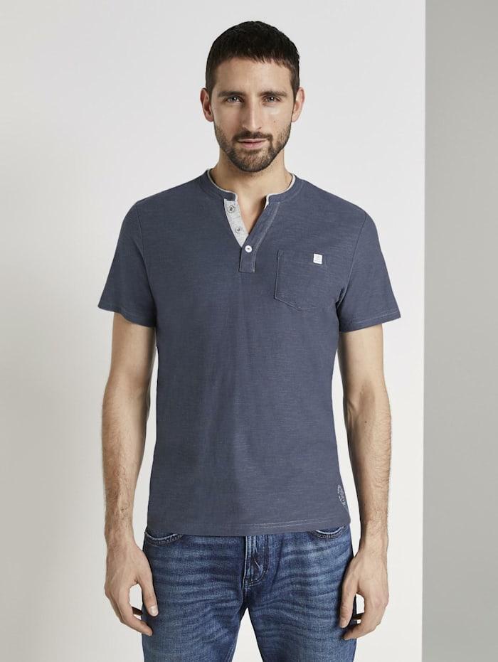 Gestreiftes Henley-T-Shirt