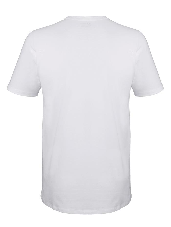 Shirt van Pima-katoen met korte mouwen 2 stuks