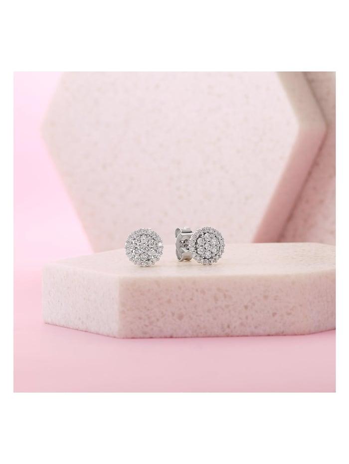 CHRIST Diamonds Damen-Ohrstecker 585er Weißgold 50 Brillanten