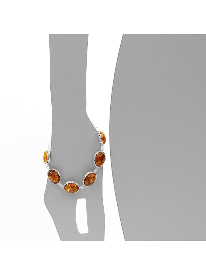 Armband - Clara - Silber 925/000 - Bernstein